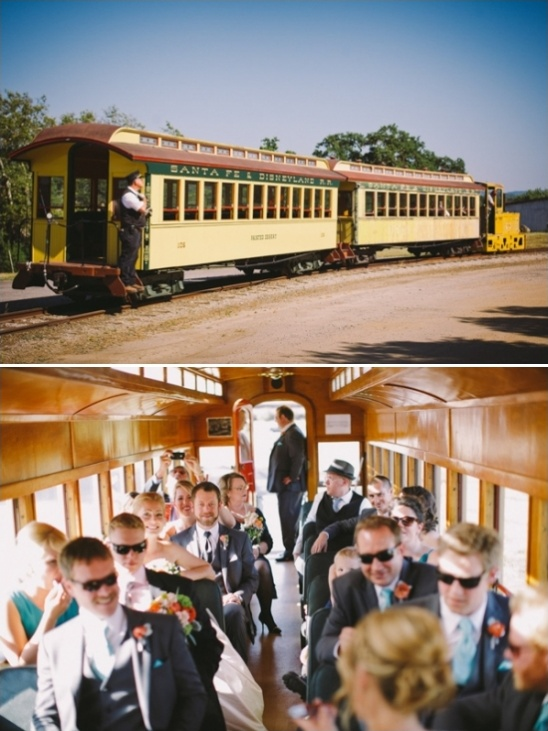 train wedding transportation