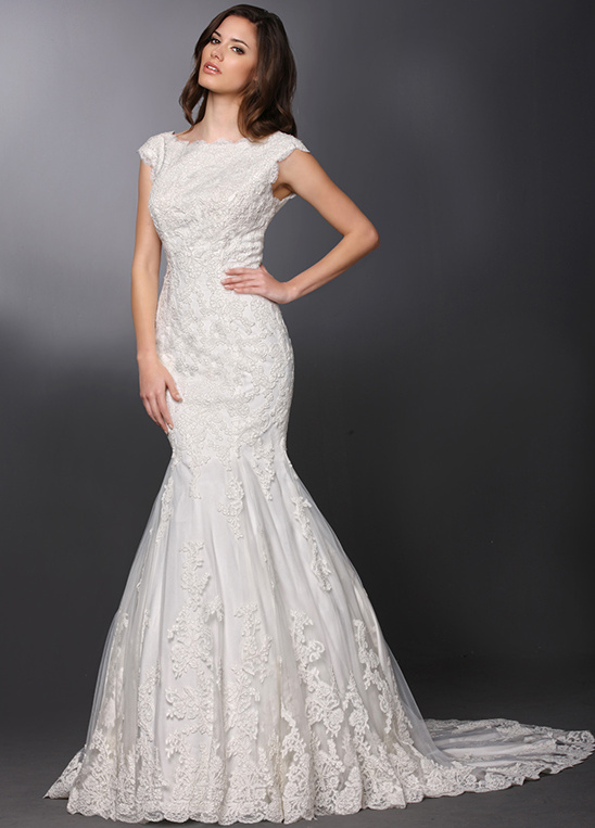 cap sleeve wedding gown from DaVinci Bridal