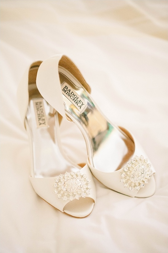 white Badgley Mischka shoes