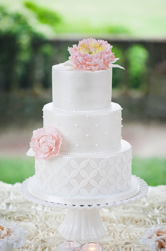 gorgeous tiered white wedding cake
