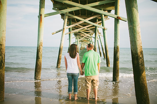 Morehead City Beach Engagement