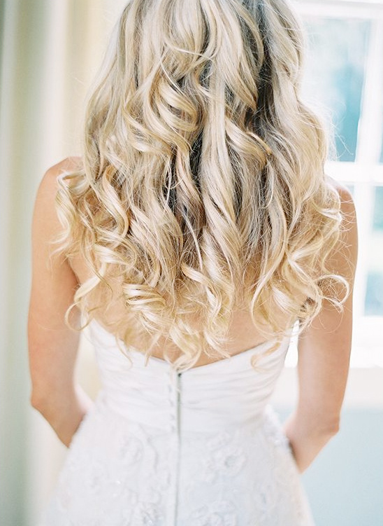 loose curls for wedding hair