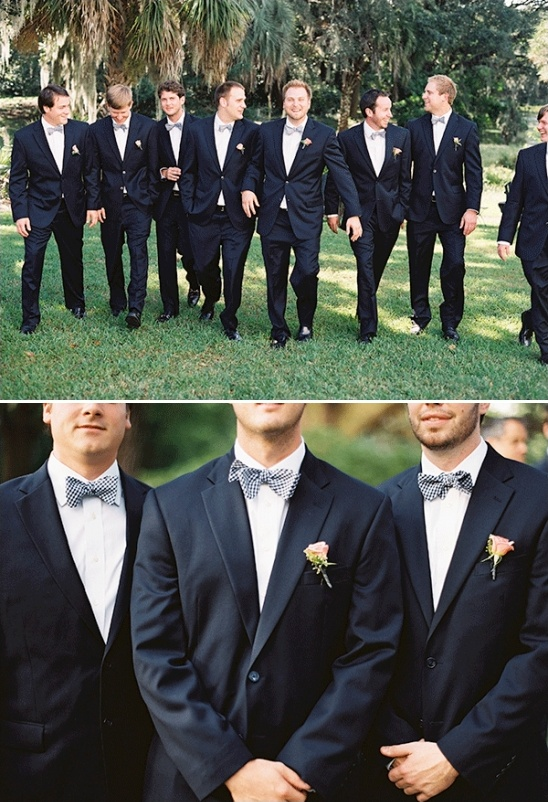 classic groomsmen with rose boutonnière