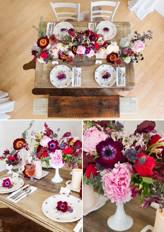 berry inspired tablescapes