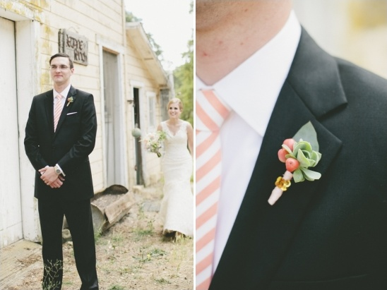 peach groom look