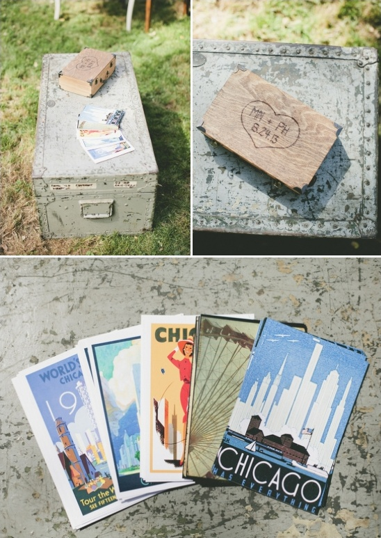 post card guestbook ideas