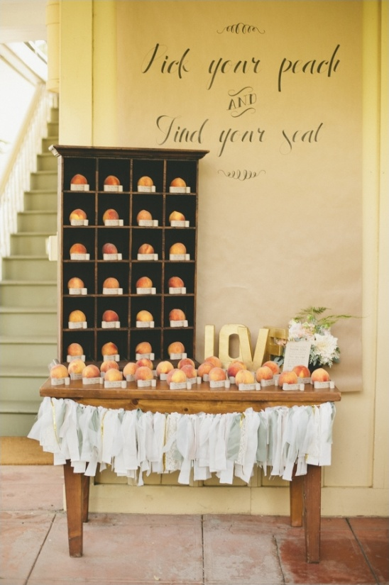 pick your peach escort cards ideas
