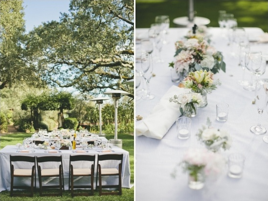 blue and white reception ideas