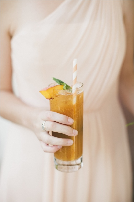 signature peach wedding drink