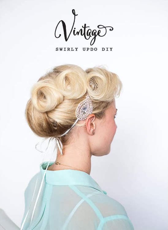 vintage diy updo tutorial