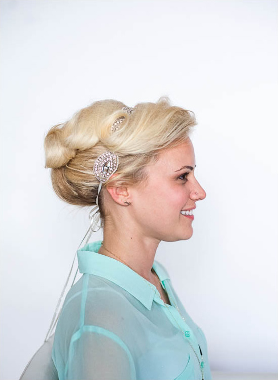 vintage wedding diy updo