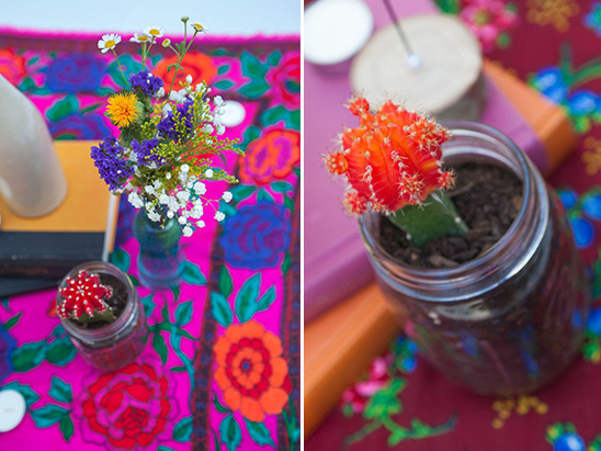 mini cactus centerpiece