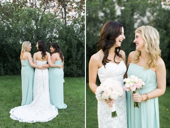 mint maids of honor dresses