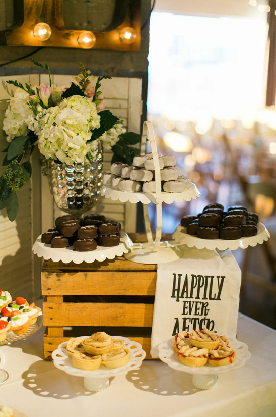 happily ever after sign at dessert table