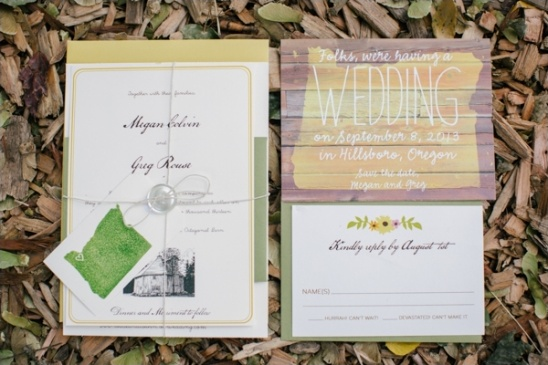 oregon wedding stationery