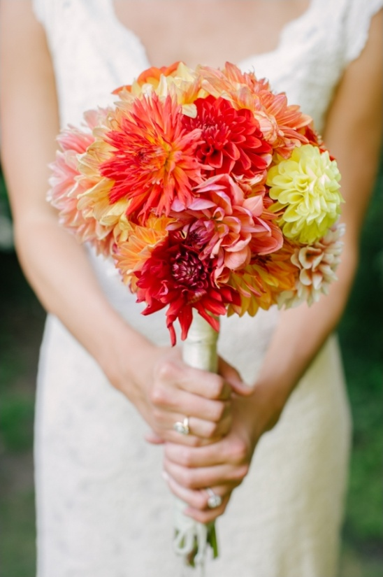 red and yellow bouquet by Sauvie Island Farms