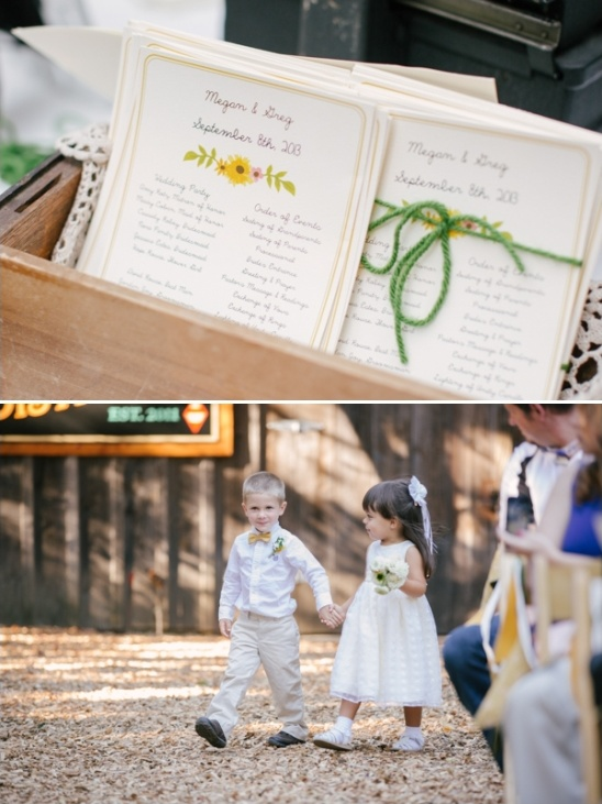 wedding programs flower girl and ring bearer
