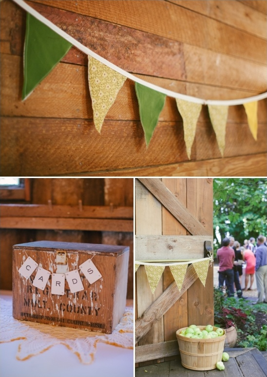 diy bunting and apple decor