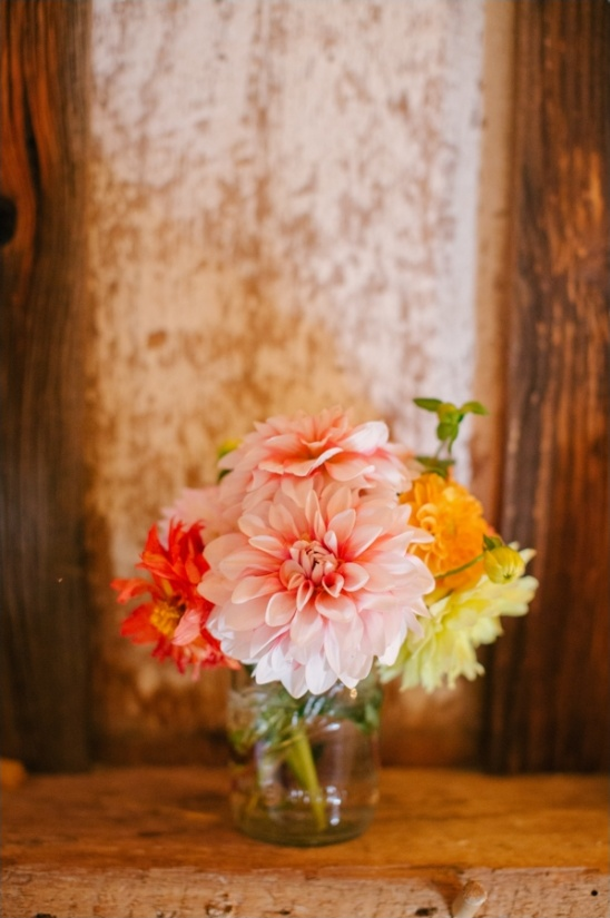 pink red and yellow floral decor
