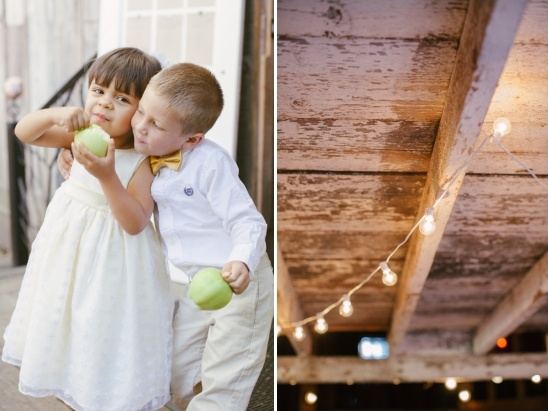 string lights for rustic barn wedding