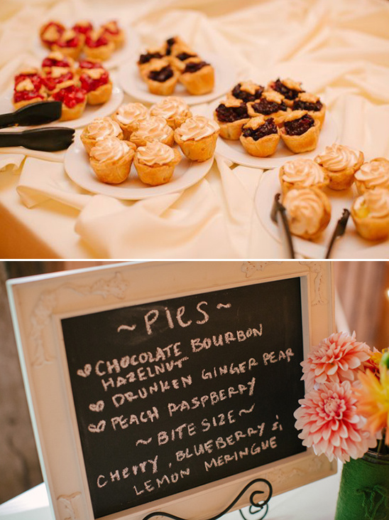 mini pies and wedding pie sign