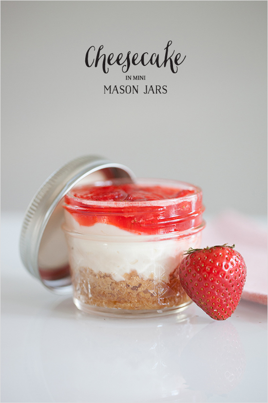 Cheesecake in Mini Mason Jars