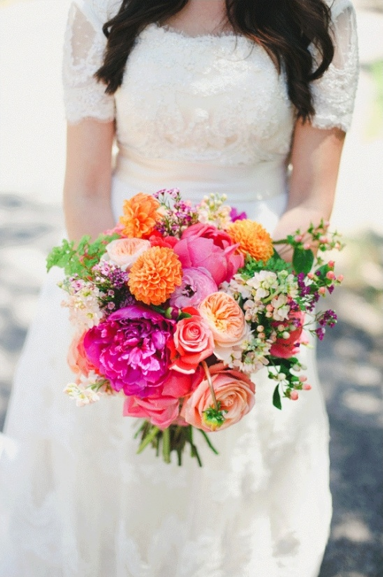 hot pink and orange bouquet