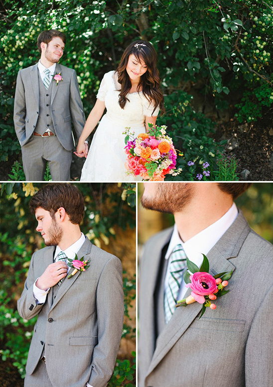 grey suit groom