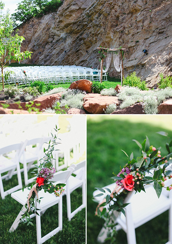 outdoor ceremony at Louland Falls
