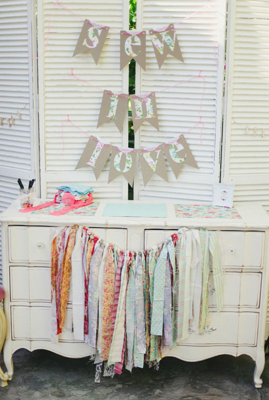 sew in love guest book quilt table