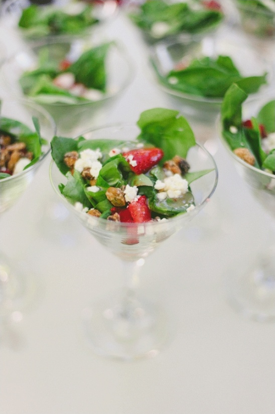 martini glass salads