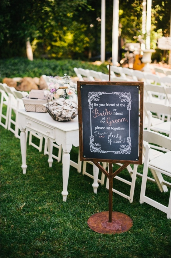 wedding ceremony seating sign