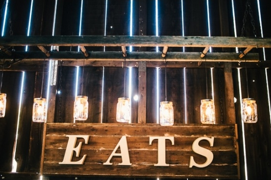 eats wedding sign
