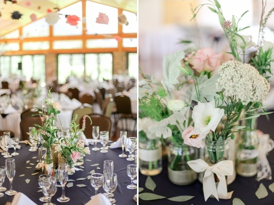 floral and ribbon centerpieces