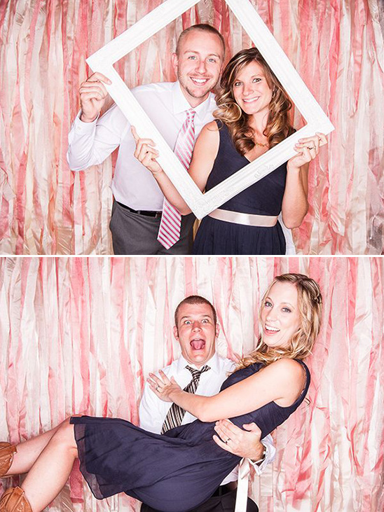 pink ribbon wedding photobooth