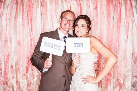 fun pink ribbon photobooth thank you signs