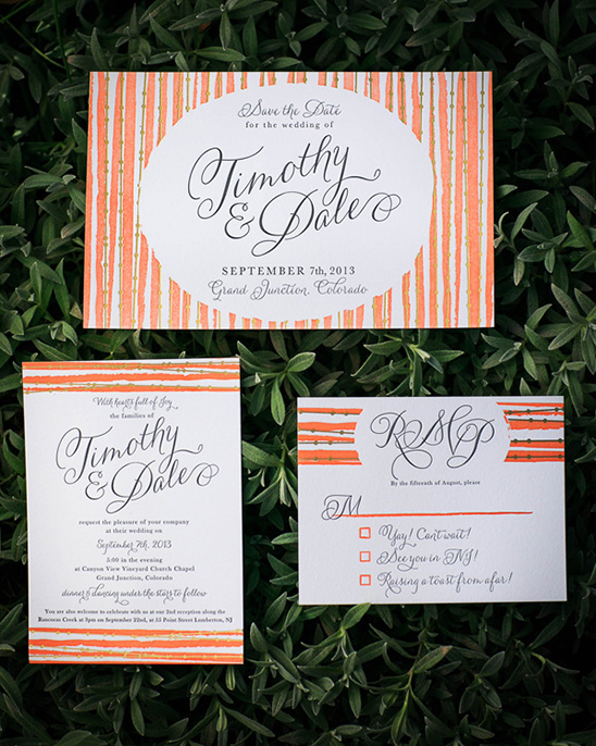 peach and gold diy wedding stationery