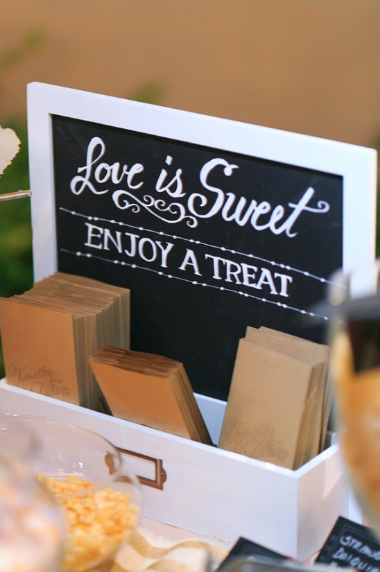 love is sweet enjoy a treat dessert table sign