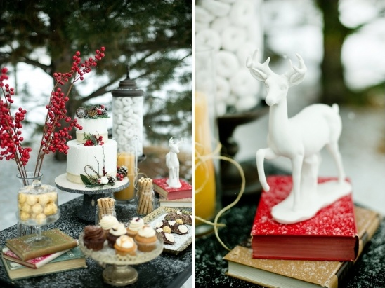 wintery dessert table