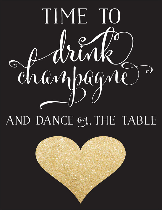 champagne free printable