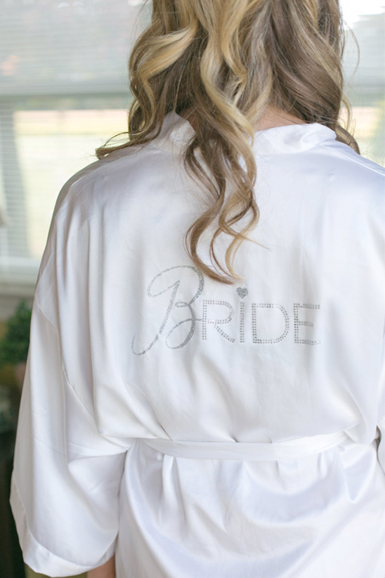 get ready in a special bridal robe