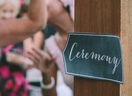 ceremony calligraphy sign