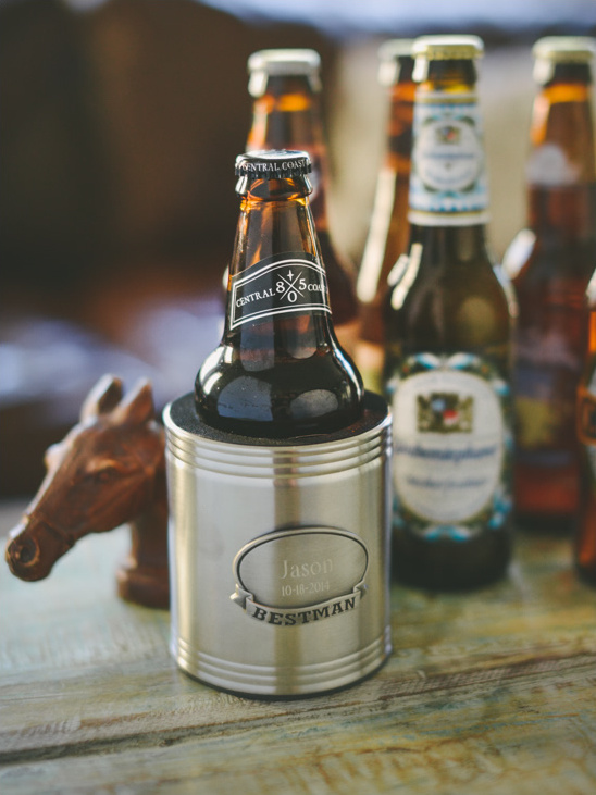 Groomsmen Gift Idea personalized beer Koozie