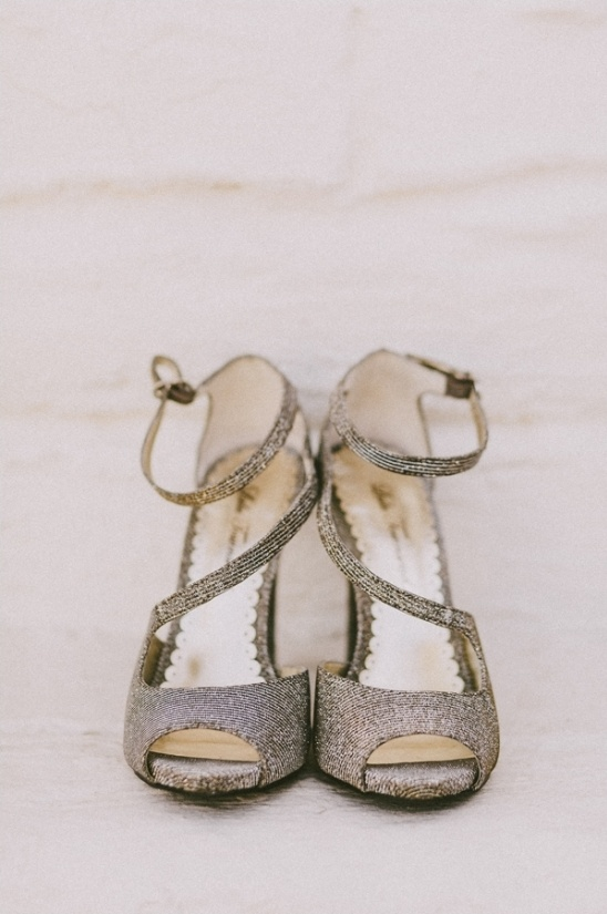 silver wedding shoes from DSW