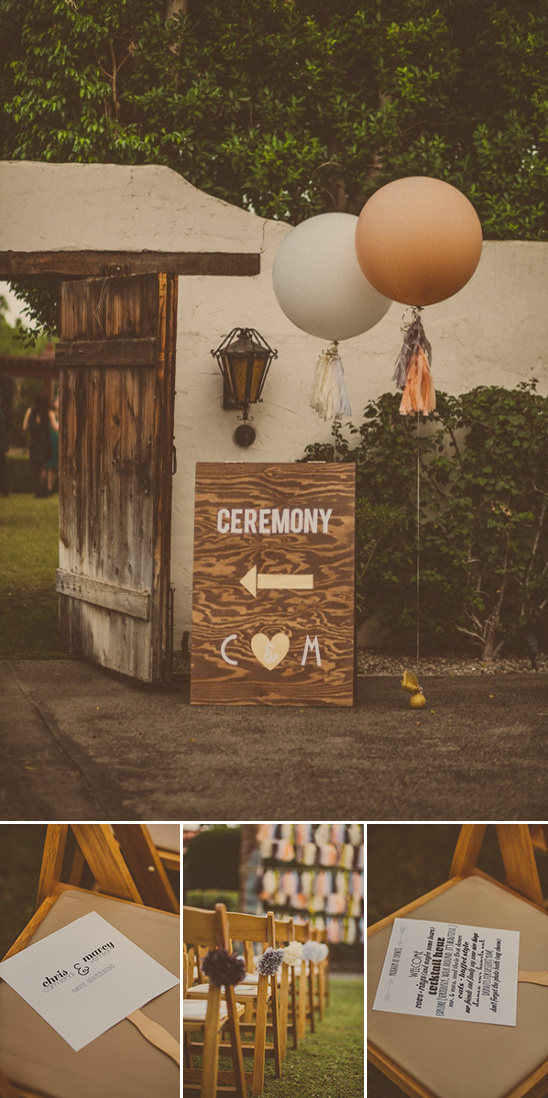 DIY ceremony sign programs and decor
