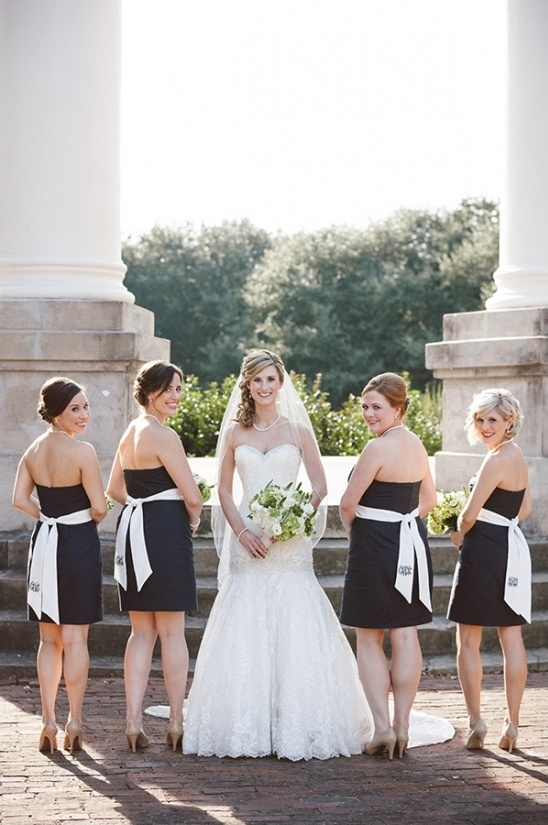 navy and white bridesmaids