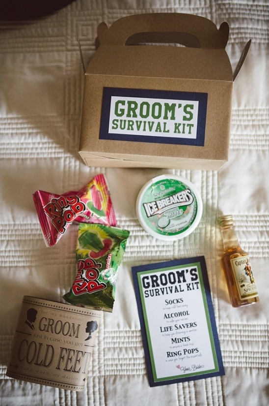 Groom survival kit ideas