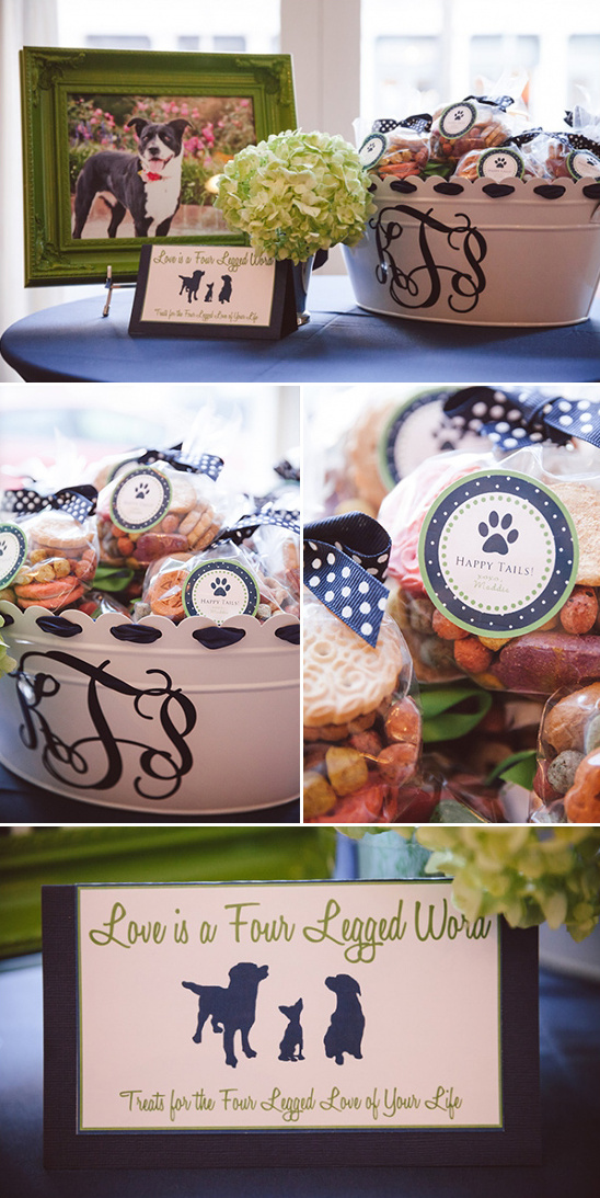 love is a four legged word dog treat table