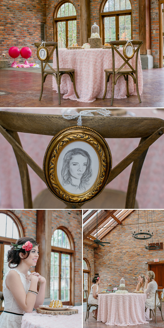 hand drawn portrait seat signs
