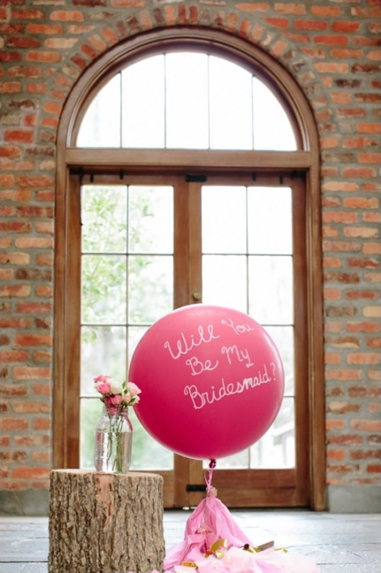will you be my bridesmaid balloon